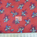 Western Print Cotton Fabric Rodeo