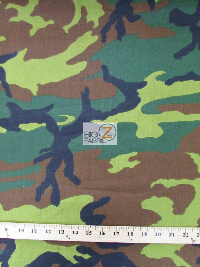 Army Camo Print Polycotton Fabric