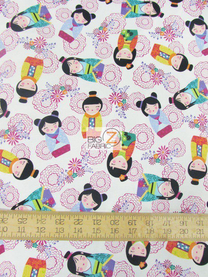 Little Harajuko Oriental Cotton Fabric