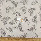 Loralie Designs Cotton Fabric Busy Bees