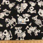 Loralie Designs Cotton Fabric Doodle Dogs