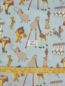Madagascar 3 Europe's Most Wanted Circus Friends Blue Cotton Fabric
