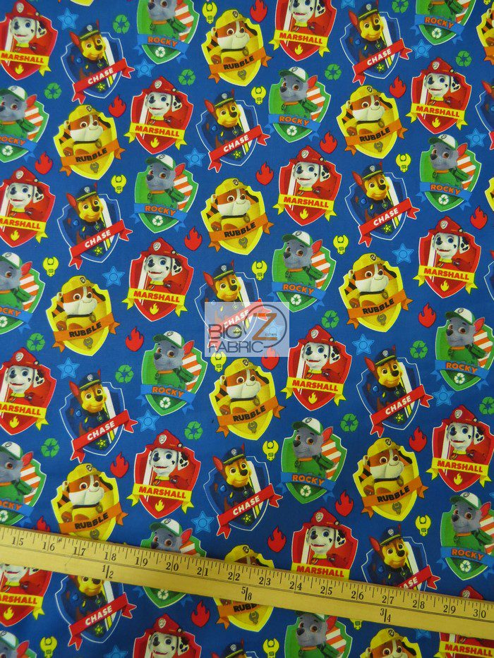 Paw Patrol Cotton Fabric Badge