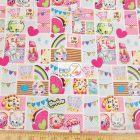 Shopkins Patch Party Cotton Fabric
