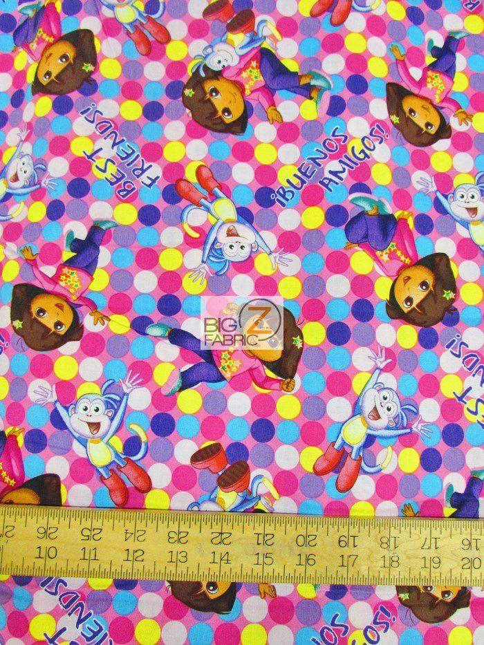 Dora One Hip Explorer Cotton Fabric