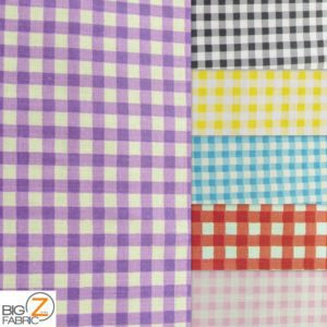 Mini Checkered Gingham Poly Cotton Fabric