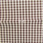 Mini Checkered Gingham Poly Cotton Fabric Brown