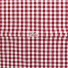 Mini Checkered Gingham Poly Cotton Fabric Burgundy
