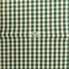 Mini Checkered Gingham Poly Cotton Fabric Hunter