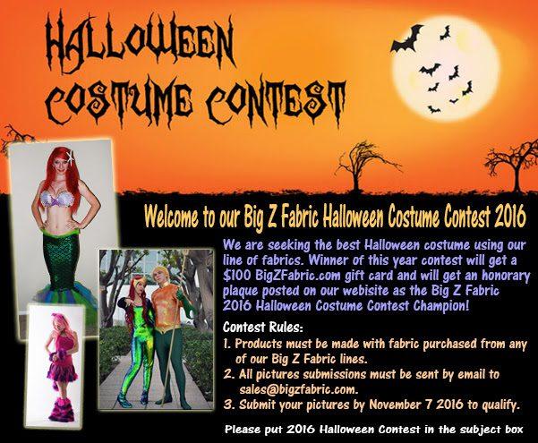 Big Z Fabric Halloween Cotton Costume Contest