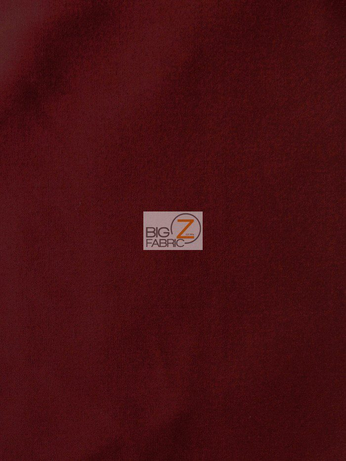 Burgundy Solid Poly Cotton Fabric