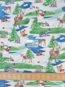 Critter Christmas Holidays By Wilmington Prints Cotton Fabric