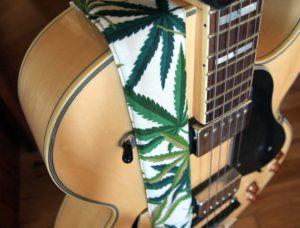 Marijuana Cotton Guitar Strap 2
