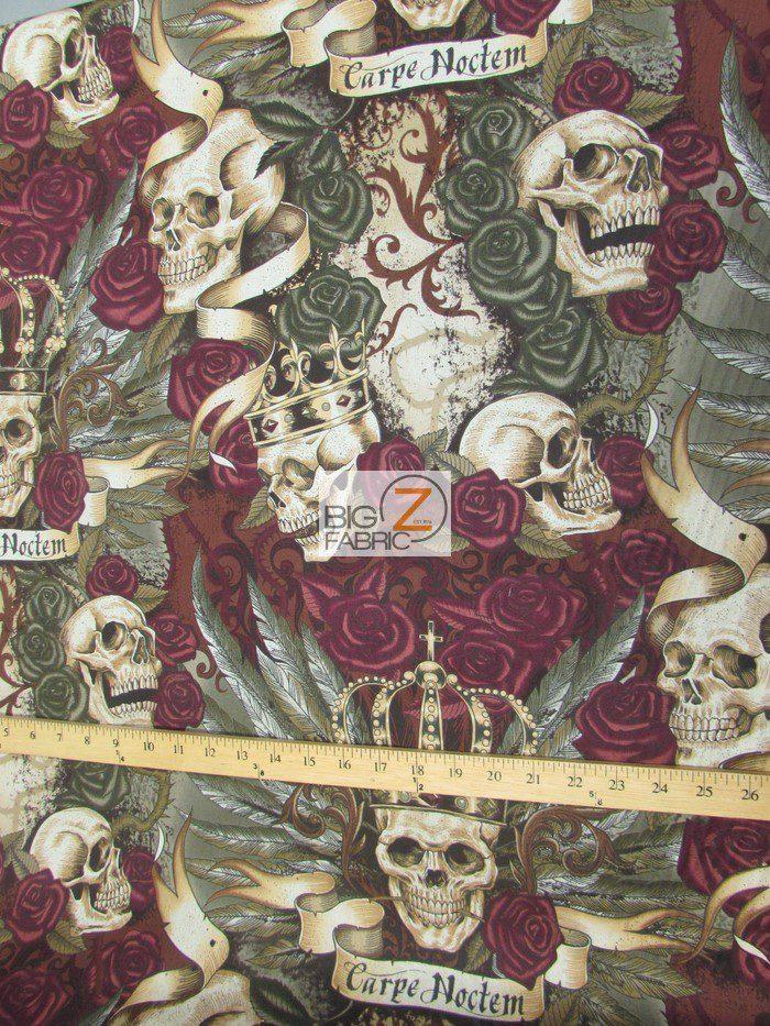 Skullduggery Royal Vintage Cotton Fabric