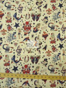 Tattoo Ivory Alexander Henry Cotton Fabric
