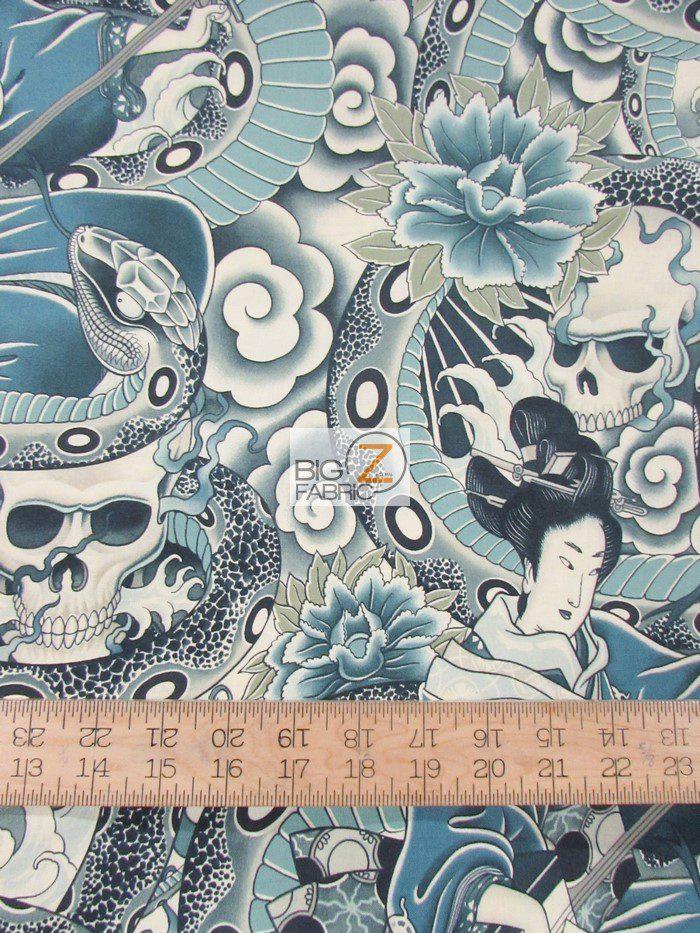Zen Charmer Oriental Curse Vintage Cotton Fabric