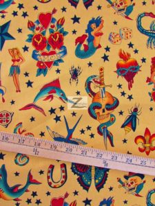 Alexander Henry Tattoo Tan Cotton Fabric