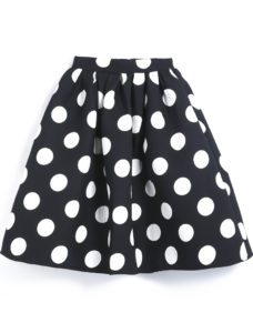 Polka Dot Flare Skirt