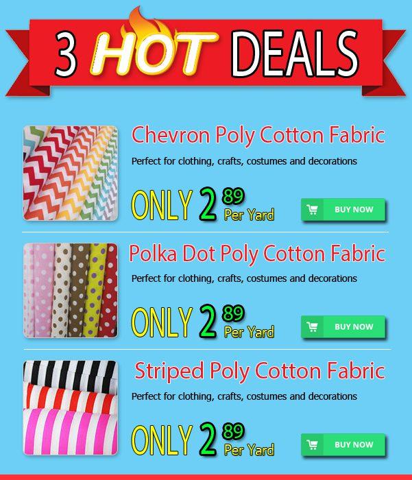3 Hot Polycotton Fabric Deals
