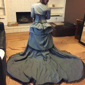 Striped Polycotton Jack Skellington Dress