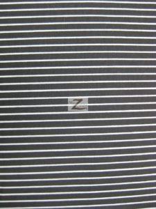 "1/8"" Striped Polycotton Fabric Black"
