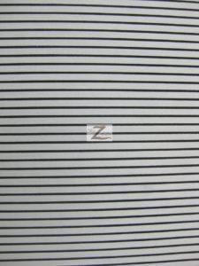 "1/8"" Striped Polycotton Fabric White"
