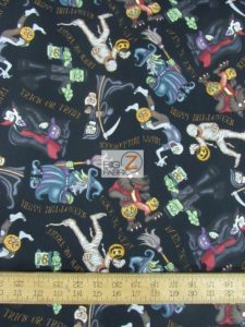 A Haunting We Will Go Black By RJR Fabrics
