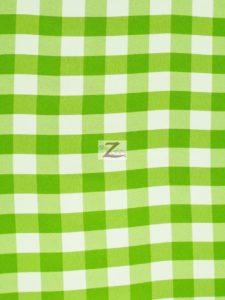 Checkered Gingham Poplin Fabric Green
