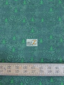 Holly Jolly Christmas Tree Green By RJR Fabrics