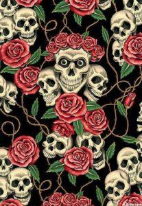 Alexander Henry Skull Print Cotton