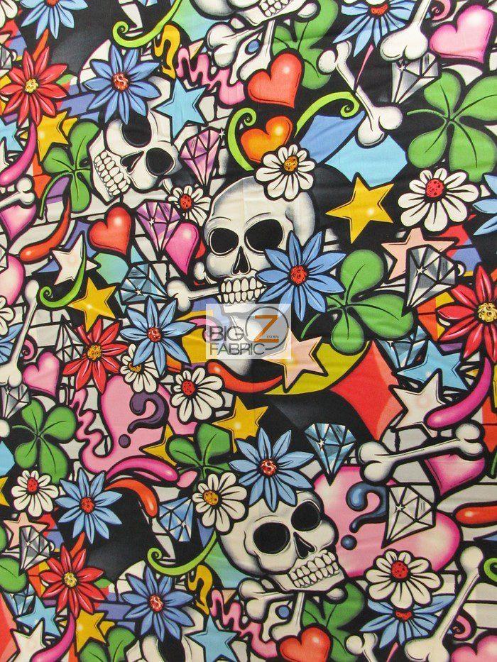 Alexander Henry Street Skull Cotton Fabric