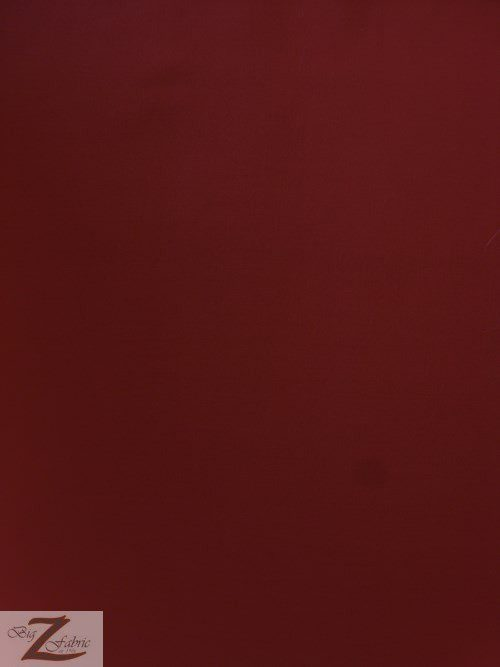 Burgundy Uniform Heavyweight Polycotton Fabric