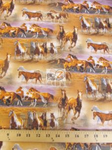 Horses In The Field By David Textiles