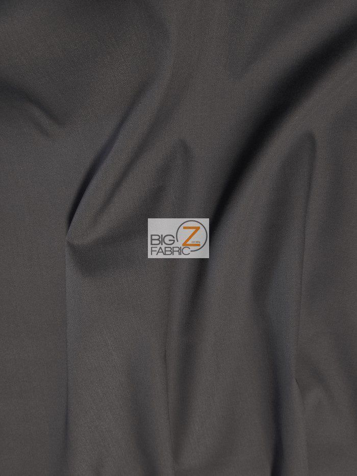Charcoal Uniform Heavyweight Polycotton Fabric