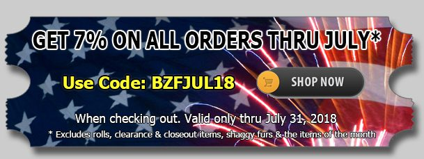 July 2018 Cotton Fabric Discount