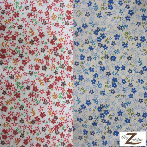 Mini Flower Poly Cotton Print