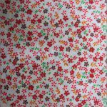 Mini Flower Poly Cotton Print Fabric Red