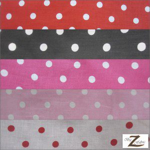 Small Polka Dot Poly Cotton Fabric