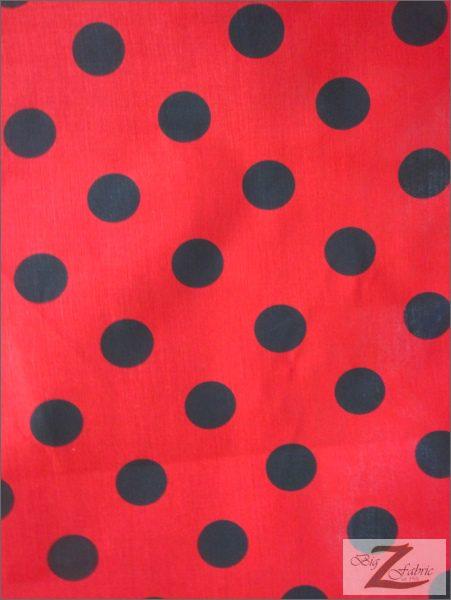 Big Polka Dot Poly Cotton Fabric 100 Cotton Fabric