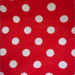 Big Polka Dot Poly Cotton Fabric White