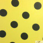 Big Polka Dot Poly Cotton Fabric Yellow Black