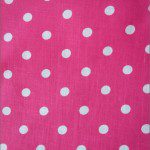 Small Polka Dot Poly Cotton Fabric Pink