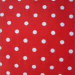 Small Polka Dot Poly Cotton Fabric Red