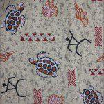 Turtle Print Poly Cotton Fabric Sand