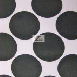 Giant Polka Dot Poly Cotton Fabric Black