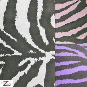 Zebra Print Poly Cotton Fabric