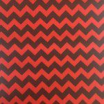 "1/2"" Zig Zag Chevron Poly Cotton Fabric Black Red"