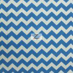 "1/2"" Zig Zag Chevron Poly Cotton Fabric Royal White"