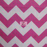 1″ Zig Zag Chevron Poly Cotton Fabric Fuchsia