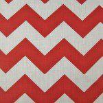 1″ Zig Zag Chevron Poly Cotton Fabric Red